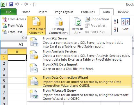 Link Microsoft Excel to Fernhill SCADA