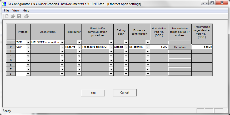 Mitsubishi FX3U-ENET Connection Guide